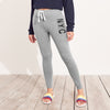 NYC Fleece Slim Fit Jogger Trouser For Ladies-Grey Melange-NA9928