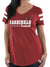 Majestic Single Jersey Boxy V Neck Tee Shirt For Ladies-SP5005