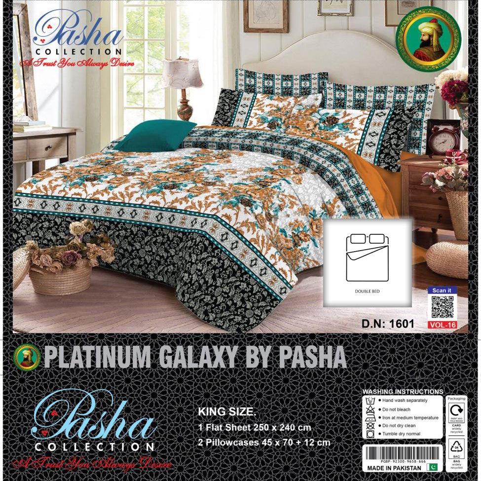 Pasha Collection Platinum Galaxy King Size Bed Sheet-NA10573