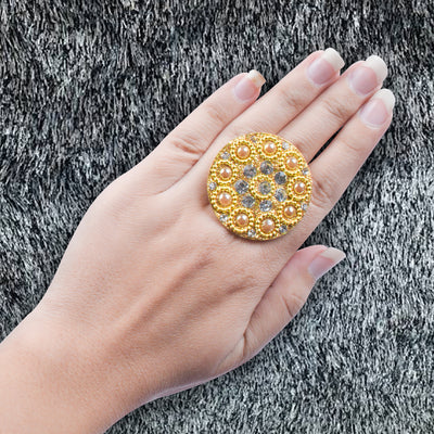 Artificial Golden Color Finger Ring-JW149