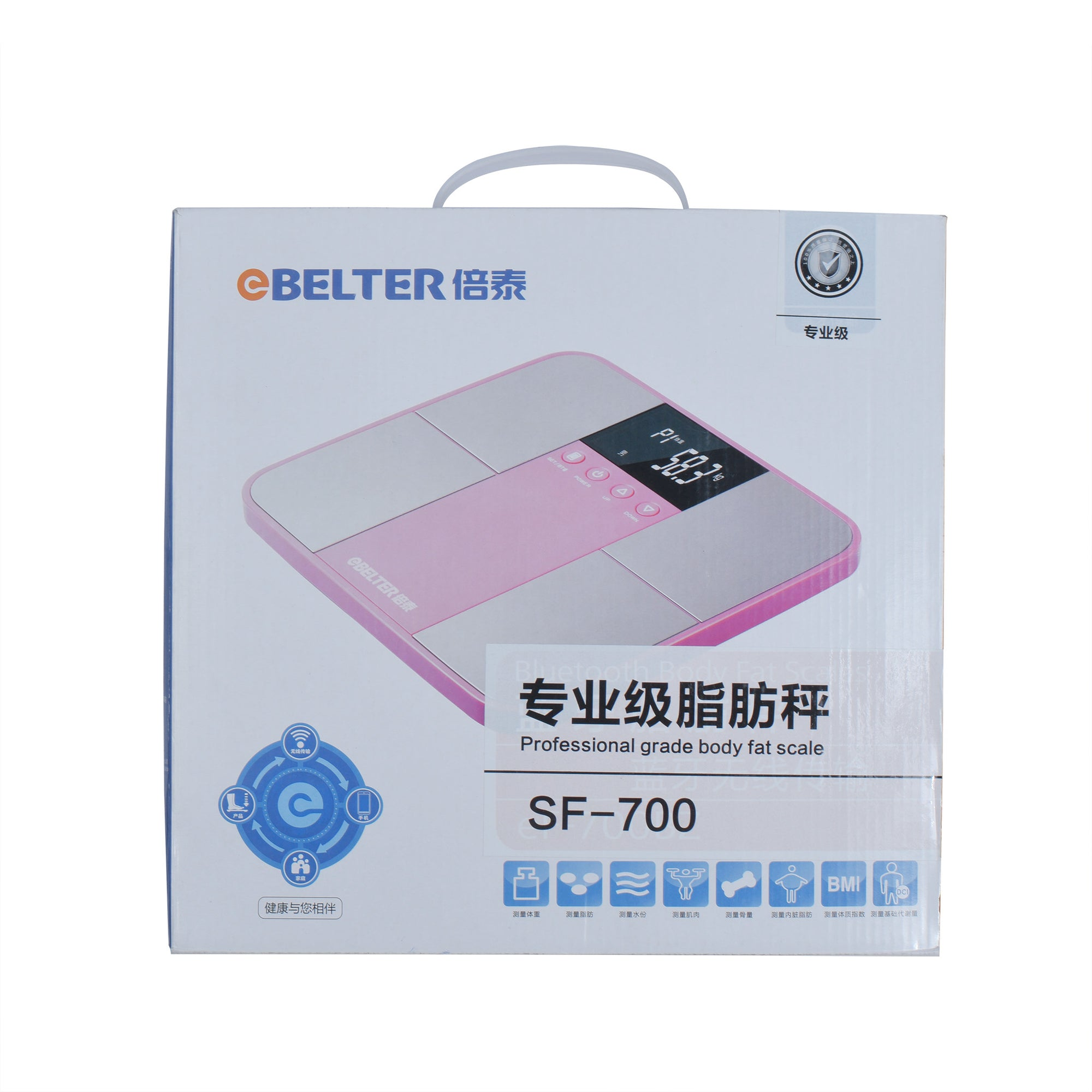 BELTER Smart Weight Body Fat Scales, Digital Bathroom Weighing Household Electronic-SK0391