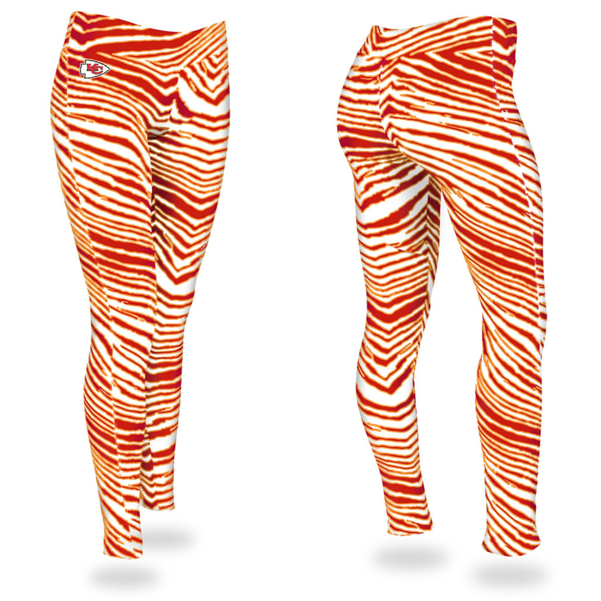 Zubaz Zebra Print Slim Fit Trousers For Ladies-Red/Orange-NA9255
