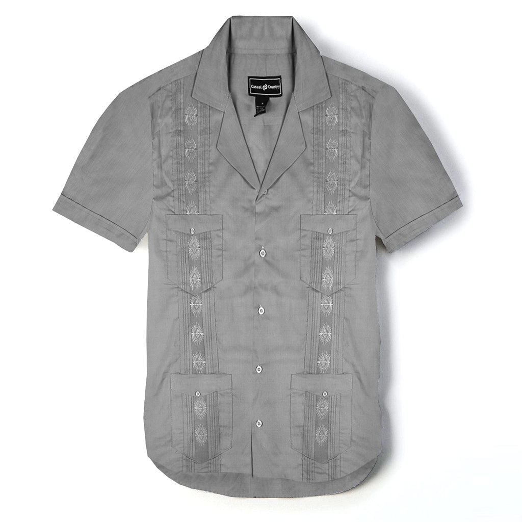 Casual Country Half Sleeve Casual Shirt-Gray-CCCS001