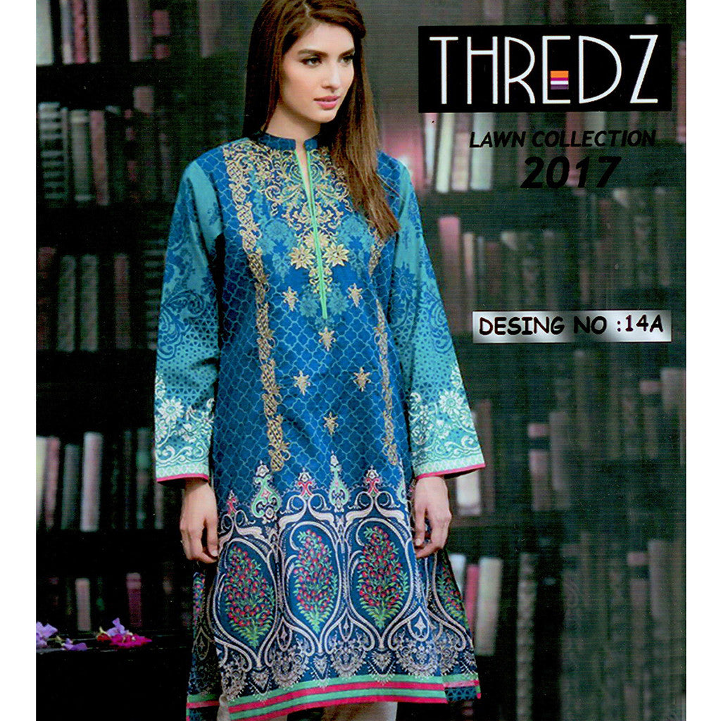 Thredz Unstitched 3 Piece Ladies Suit-ULS07