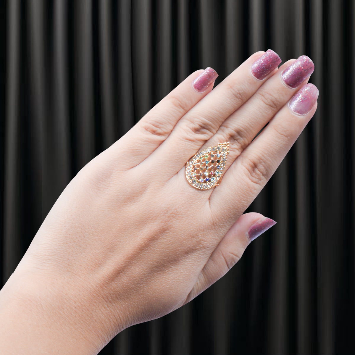 Shiny Artificial Golden Color Ring-JW144