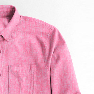brandsego - Karat Button Down Casual Shirt For Boys-Pink Melange-NA8630