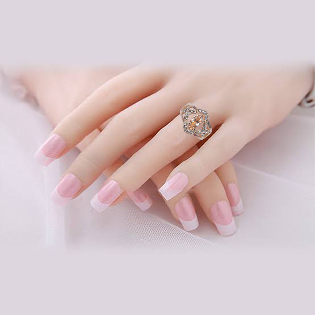 Glamorous Style Golden Color Ring-JW155
