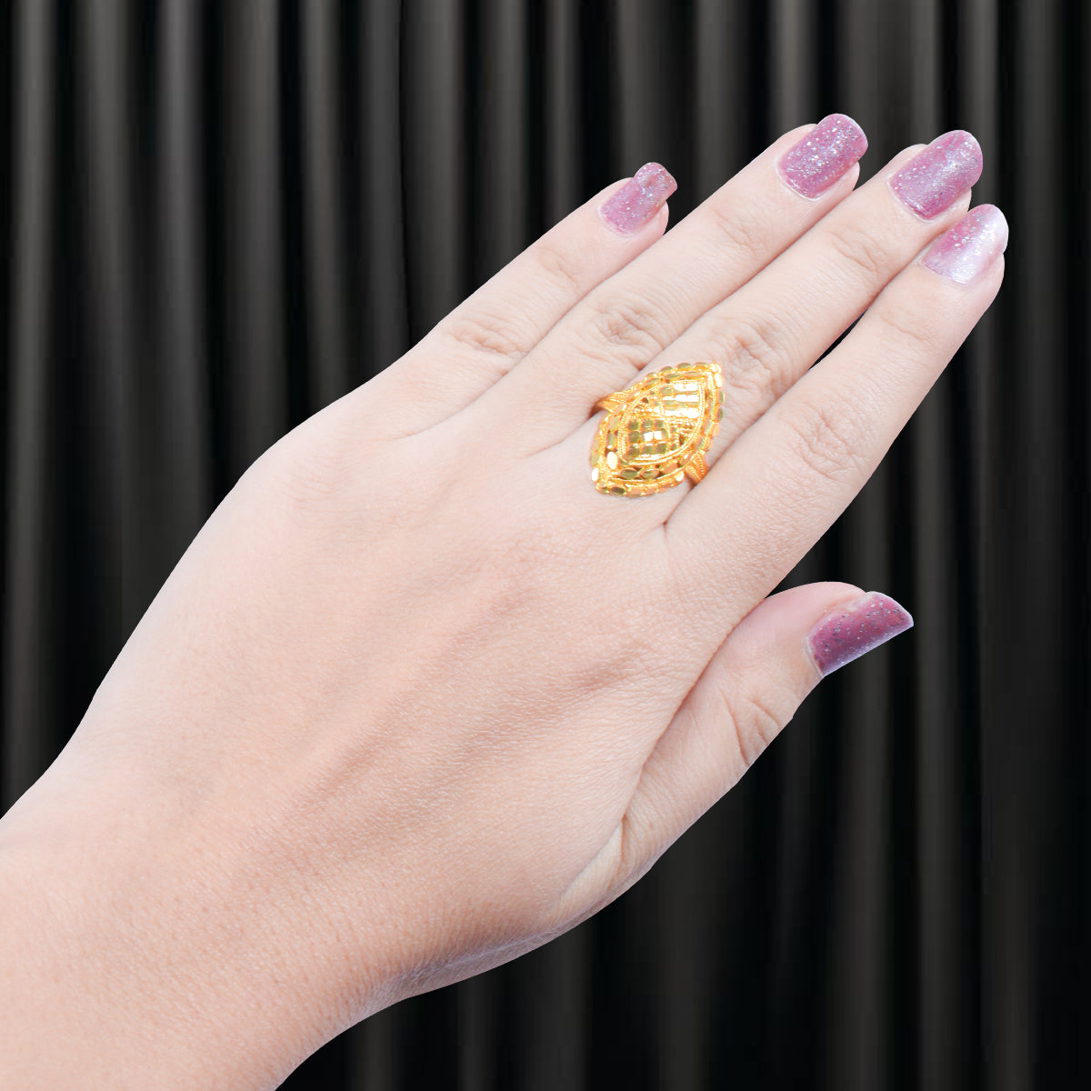 Stylish Golden Color Ring-Assorted-JW148
