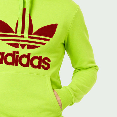Adidas Fleece Pullover Hoodie For Men-Light Pale Green-NA10280