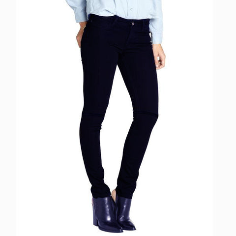 "Women ""Miss Fit"" Skinny Fit Stretch Denim-Navy Blue (WD255)"