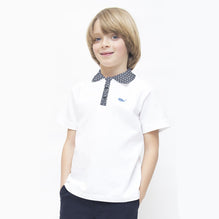 Kids Oliver Duke Cut Label Stylish Polo Shirt-White-DK01