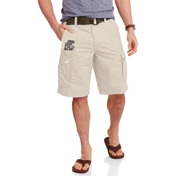 "Men's ""HHS DENIM"" Cotton Cargo Short-Lemon Chiffen"