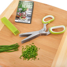 Herb Scissors Multipurpose Kitchen Shears Stainless Steel 5 Blade-HBS01