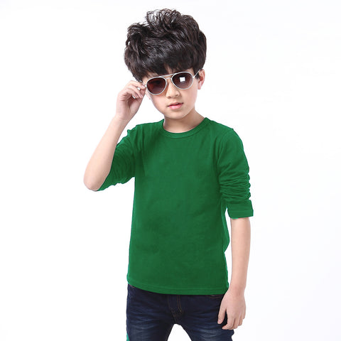 Fassion Crew Neck T Shirt For Kids -Green-BE817