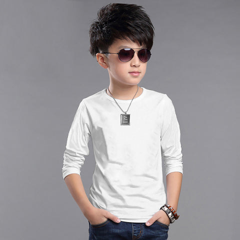 Next Crew Neck T Shirt For Kid Cut Label -White-BE2284