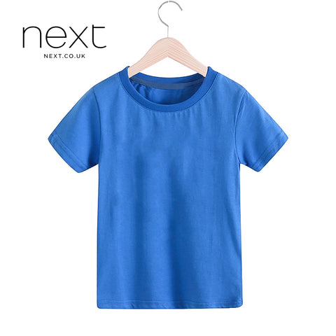NEXT Half Sleeve Single Jersey T Shirt For Kids-Blue-NA1223