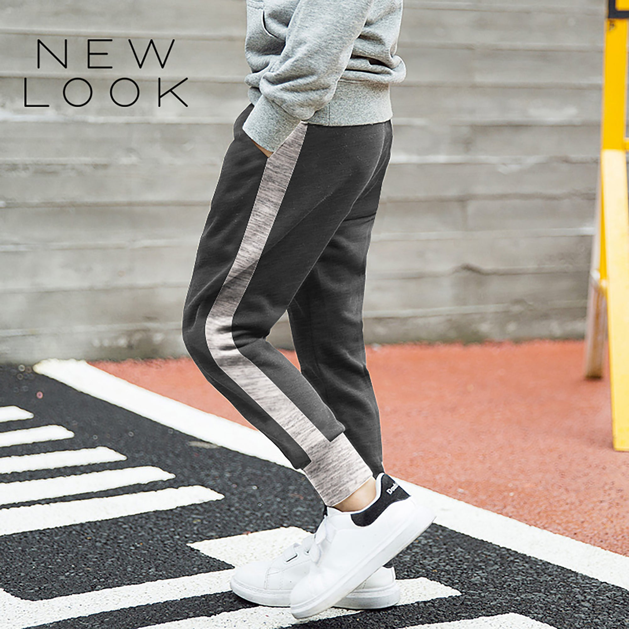 New Look Single Jersey Jogger Trouser For Kids-Charcoal Gray & Gray Melange-NA1181