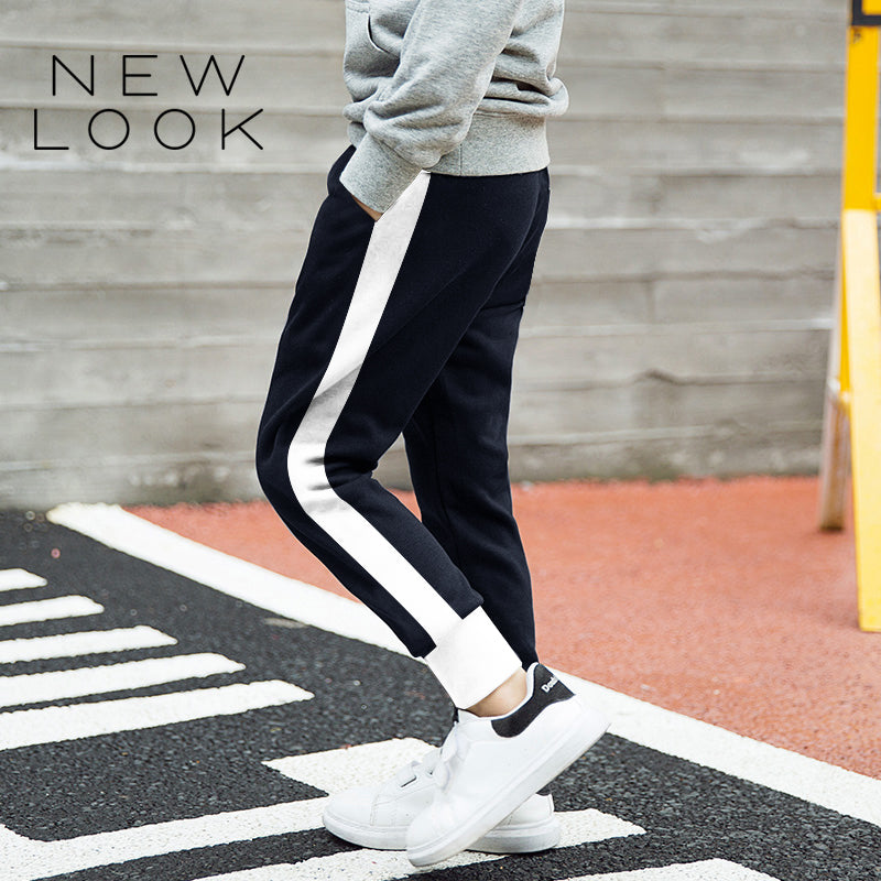 New Look Single Jersey Jogger Trouser For Kids-Dark Navy & White-NA1209
