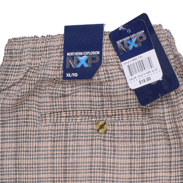 "Men's ""NXP"" Cotton Shorts-Skin chek - (693)"