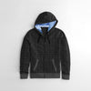 Tommy Hilfiger Quilted Zipper Hoodie For Kids-Charcoal Melange-NA10173