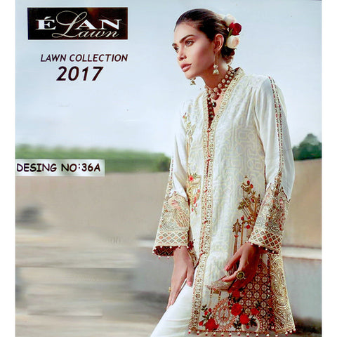 Elan Lawn Unstitched 3 Piece Ladies Suit-ULS20