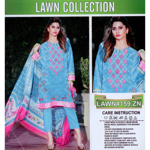 Lawn Collection Unstitched 3 Piece Ladies Suit-ULS21