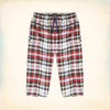 Bershka 3 Quarter Cotton Short For Men-Multi Check-NA5277