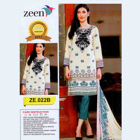 Zeen Lawn Collection Unstitched 3 Piece Ladies Suit-ULS53