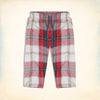 Bershka 3 Quarter Cotton Short For Men-Multi Check-BE5157