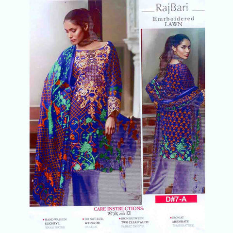 Rajbari Unstitched 3 Piece Ladies Suit-ULS54