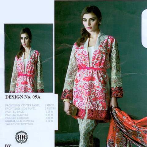 "Ladie's ""khaadi"" Unstitched 3 Piece Suite -(KH003)"