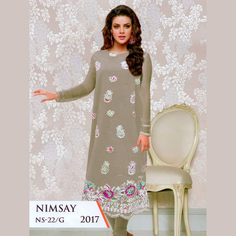 Nimsay Unstitched 3 Piece Ladies Suit-ULS57