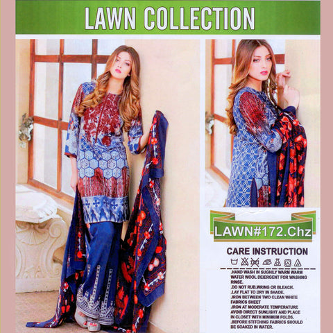 Lawn Collection Unstitched 3 Piece Ladies Suit-ULS58