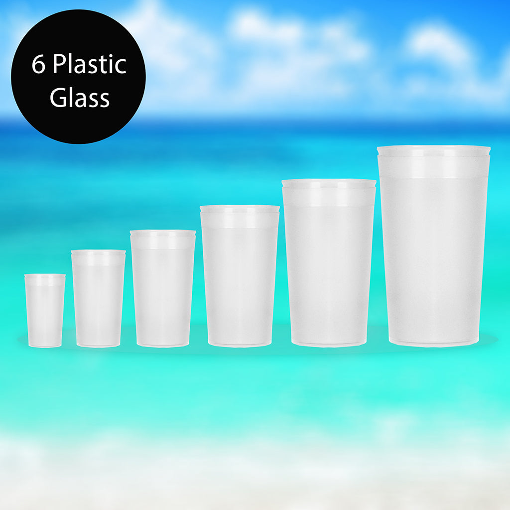 6 Piece Plastic Glass-6PPG01