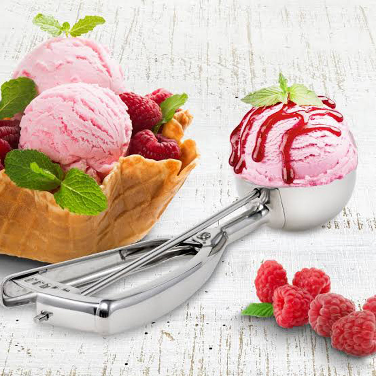 Stainless Steel Ice Cream Scoop-JW133