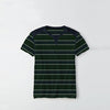 brandsego - Kids Kroner Striped T Shirt-Dark Green-KKTS03