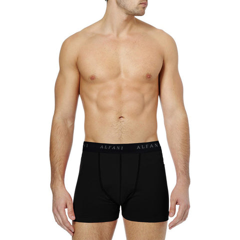 "Men's ""ALFANI"" Boxer Short-Black-BE185"