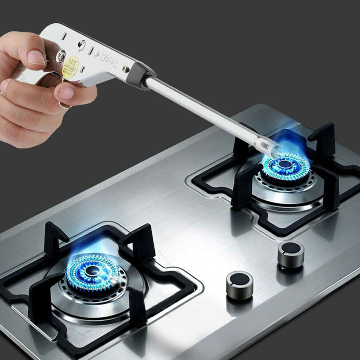 Stainless Iron Electronic Gas Igniter Cooker Pulse Arc Spark-JW122