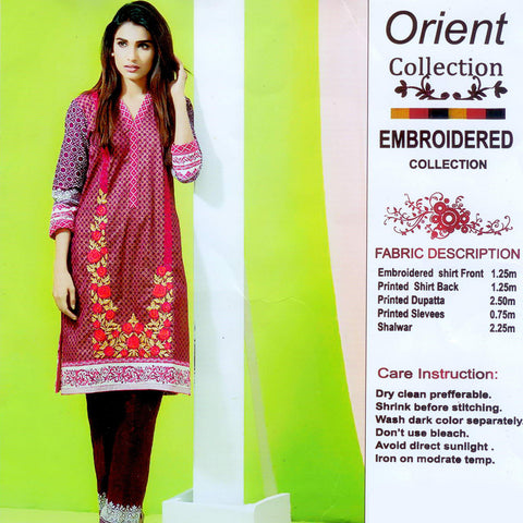Orient Unstitched 3 Piece Ladies Khaddar Suit-ULS02