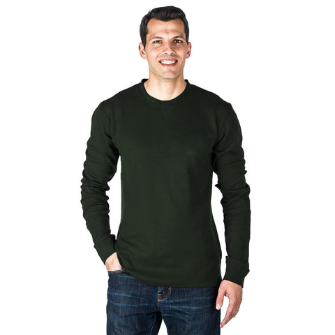 "Mens ""NEXT"" Cut Label Crew Neck Full Sleeve T shirt-Green-SB14"