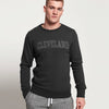 New York Popular Crew Neck Fleece Embroidered Sweatshirt For Men-Charcoal Melange-SP1124