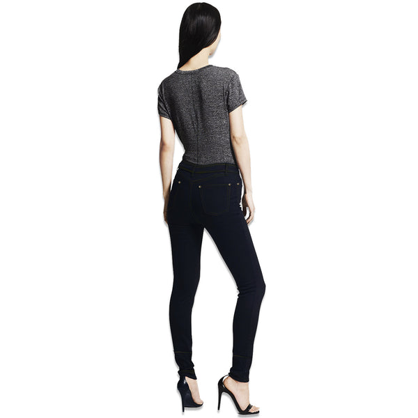 "Women ""Like An Angel"" Skinny Fit Stretch Denim-Navy Blue (WD210)"