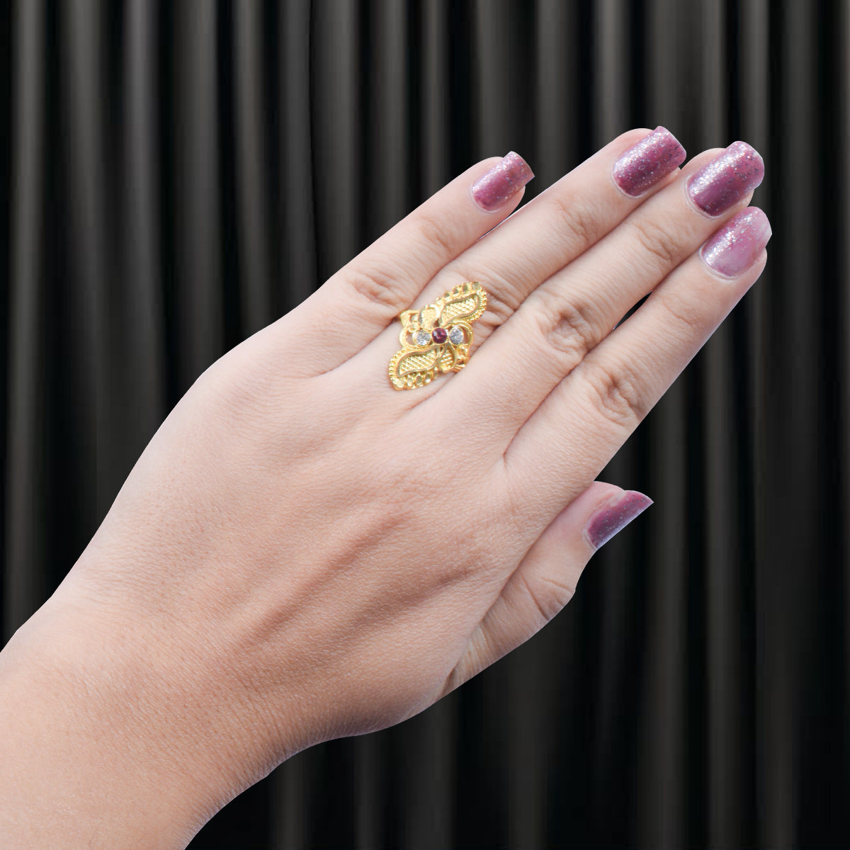 Artificial Golden Color Ring-JW143