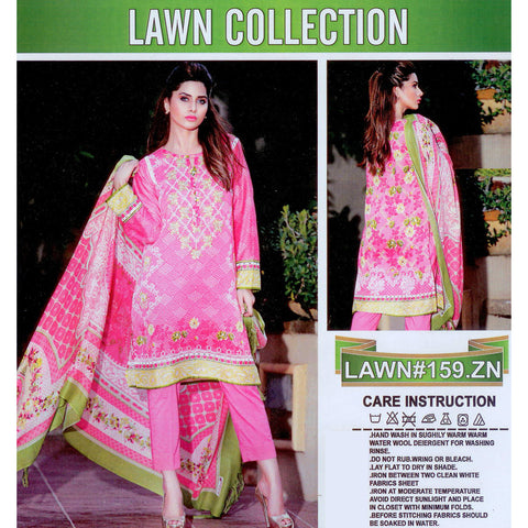 Lawn CollectionUnstitched 3 Piece Ladies Suit-ULS08