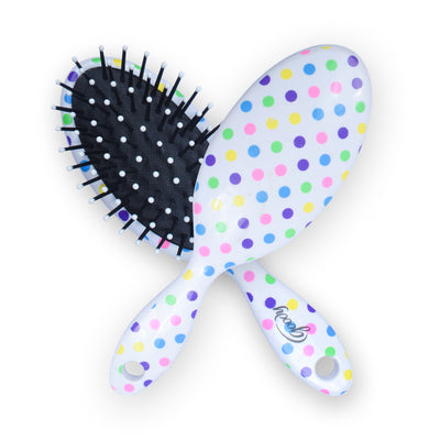 Oval Cushion Hair Brush With Print-JW119