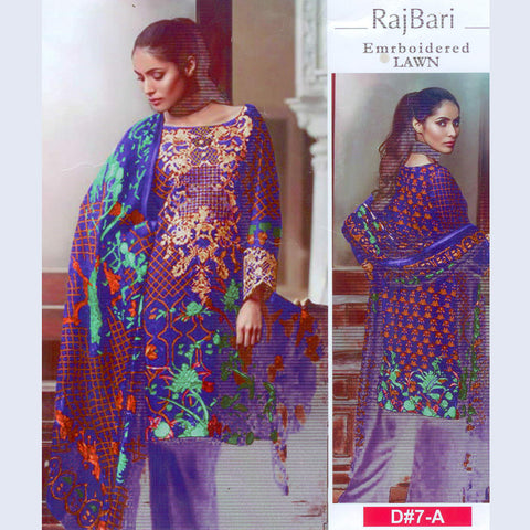 Raj Bari Unstitched 3 Piece Suit For Ladies-NS16