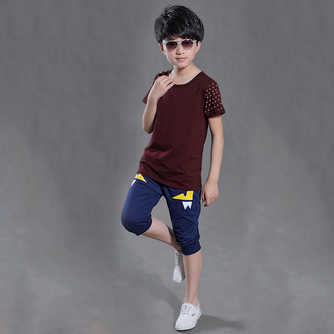Next Half Sleeve T Shirt For Kid Cut Label -Dark Maroon-BE2181