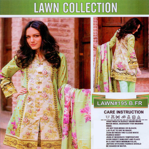 Lawn Collection Unstitched 3 Piece Suite For Ladies -NS39