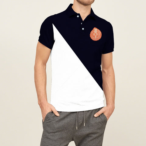 Mens Louis Vicaci Milano Muscel Fit Dark Navy-White Slate Rugby Polo Shirts-RP13