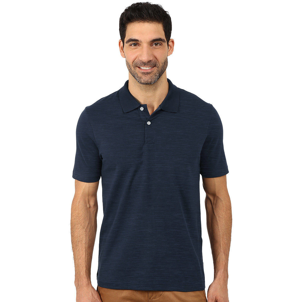 Farrell Polo Shirt For Men Cut Label-Light Navy Melange-BE3091